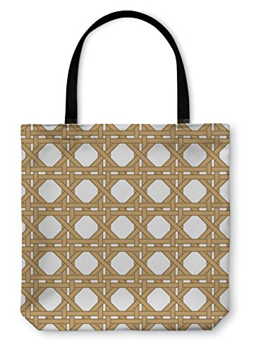 Gear New Shoulder Tote Hand Bag, Wicker Woven, 18x18, 20229GN