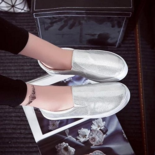 Sandalias para Mujer, RETUROM Zapatos de deportes planos casuales de las nuevas mujeres Plata