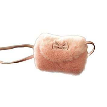 3e1af49bc039 Little Finger Winter Faux Fur Kids Girl Lovely Bowknot Mini Single Shoulder  Crossbody Bag Handbag size One size (2 )  Amazon.co.uk  Computers    Accessories