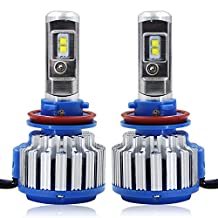 RCP - H8/H9/H11 - LED Headlight CREE Bulbs Conversion Kits + Canbus (1 Pair)-2 Year Warranty