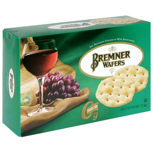 Bremner Plain Wafers, 4-Ounce Units (Pack of 12)