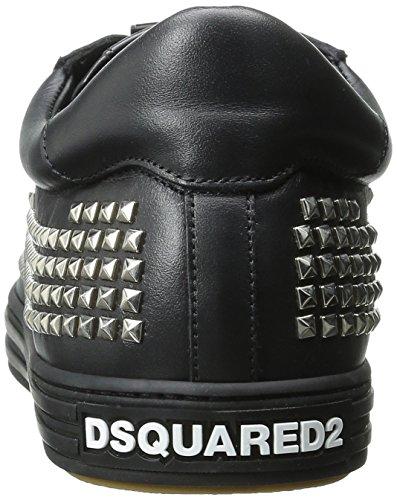 Dsquared2 Heren Tennisclub Studds Fashion Sneaker Zwart