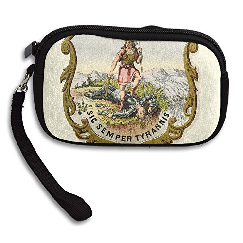 Virginia State Coat Of Arms Deluxe Printing Small Purse Portable Receiving Bag by KIBGqw (Image #1)