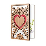 Love Greeting Cards For Him, Or Her: High End Handmade Wooden Card Perfect To Say I Love You, Happy Anniversary, Just Because, Valentine's Day, Even Mother's Day Card