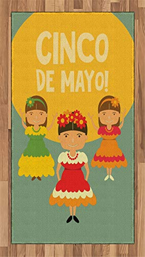 Cinco De Mayo Area Rug Hispanic Ladies in