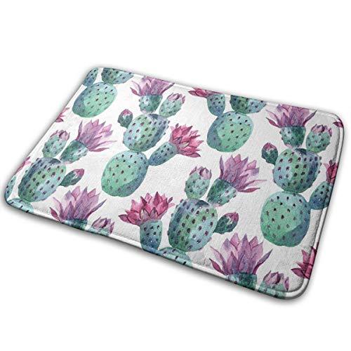 NiYoung Wilder California Prickly Pear Cactus Floral Comfortable Carpet Doormat Home Bathroom Bedroom Mat Kitchen Floor Decor Rug Non Slip Mat 15.8x23.6 Inch ()
