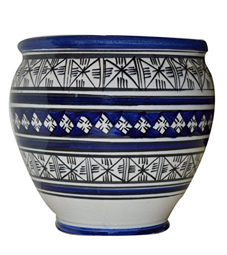 Cheap Flower Pot Moroccan Spanish Garden Drain Hole Ceramic Planter Handmade Yellow