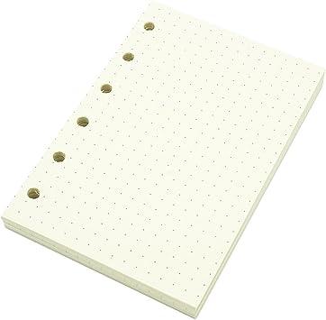 Harphia Line A7 Planner Refill,Mini Binder Refills,6 hole//100gsm Thick Paper//4.84 x 3.23