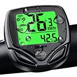 Bike Computer, Waterproof Wireless Bicycle Speedometer Kit Auto Wakeup Bike Odometer, LCD Wireless Bike Computer Bicycle Speedometer Multi Function, Molorical