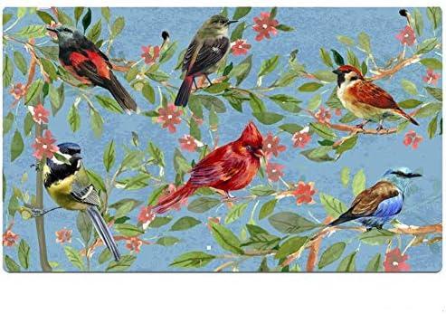 Welcome Door Mat Outdoor Indoor Enty Floor Mat Decorative Bird Print Entrance Rug Non Slip Rubber Doormat Dirt Trapper 29×17 inch