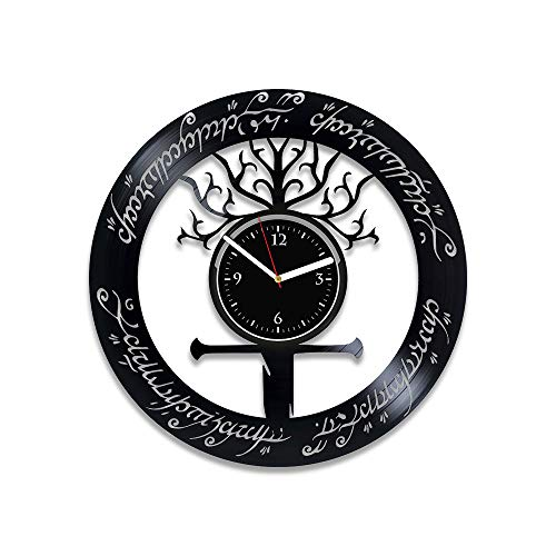 RainbowClocks Lord of the Ring Gift For Him Handmade Clock Lord of the Ring Wall Clock Lord of the Ring Vinyl Wall Clock The Lord of the Ring Vinyl Record Wall Clock Xmas Gift Lord of the Ring Clock