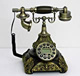 Retro style push button dial desk telephone / Home decorative # 1689