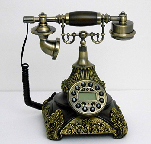 Retro style push button dial desk telephone / Home decorative # 1689 by Nabil's Gift Shop