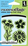 Inka Dinkado Mini Cling Stamps, Meadow Flowers