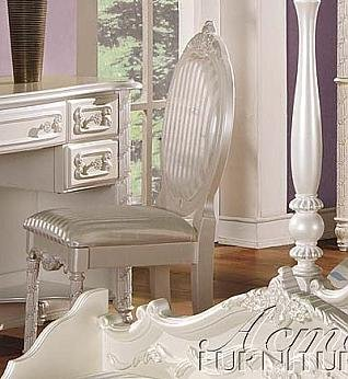 ACME 01022 Pearl Chair, Pearl White Finish