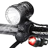 AUOPRO Super Bright Bike Lights Front and Back, 1200 Lumen USB Rechargeable Bicycle Headlight and LED Rear Taillight Set, Road/Mountain Bikes Cycling Safety Accessories for Men and Women