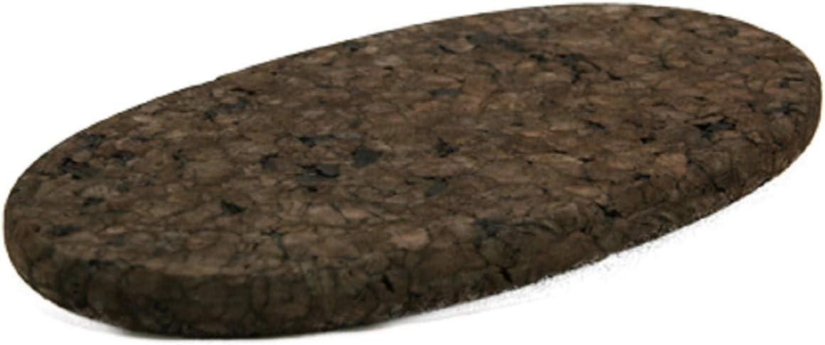 20x10 cm 72021 dunkle Kork-Untersetzer oval