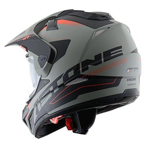 Astone Helmets Tourer Adventure, color Rojo, talla S: Amazon.es: Coche y moto
