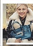**PRINT AD** With Chloe Grace Moretz For 2015 Coach Blue Handbags **PRINT AD**