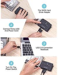 "alxum USB 3.0 A SATA IDE adaptador con convertidor de disco duro de 2.5"" 3.5"" Universal Combo para discos duros HDD SSD & ide hdd unidad óptica"