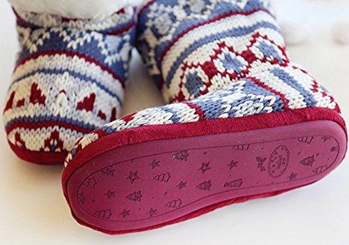 2 Winter Soft House Top Women's Sole Boots Slipper Shoes High Fleece 1wqRxv76f