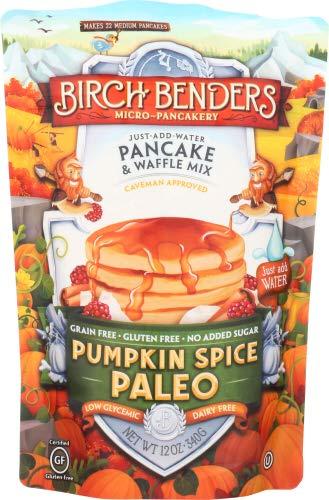 BIRCH BENDERS GRIDDLE CAKES Paleo Pumpkin Spice Pancake & Waffle Mix, 12 OZ