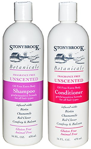 Stonybrook Botanicals Fragrance Free Unscented Shampoo and Conditioner ()