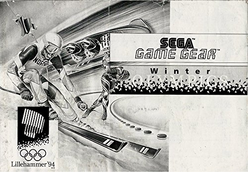 Lillehammer 94 Olympics Game Gear Instruction Booklet (SEGA GG MANUAL ONLY - NO GAME) Pamphlet - NO GAME INCLUDED