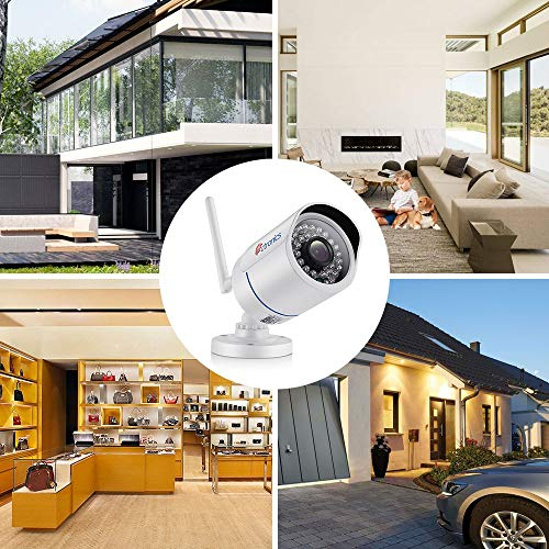 Ctronics WiFi Wireless Security Camera Outdoor Bullet Home Surveillance IP  Camera HD 1080P Night Vision,Motion Detect,Email Alert,PC,Phone,Tablet,CMS