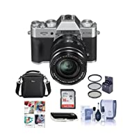 Fujifilm X-T20 Mirrorless Digital Camera Body XF 18-55mm F2.8-4 R LM OIS Lens, Silver - Bundle camera Case, 16GB SDHC Card, 58mm Filter Kit, Cleaning Kit, Card Reader, Software Package