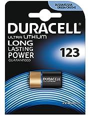 Duracell Yüksek Güçlü Lityum 123 Pil 3V, 1'li paket (CR123 / CR123A / CR17345) sensörler, anahtarsız kilitler, fotoğraf flaşları, el fenerlerinde kullanım için uygundur.