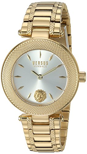 Versus by Versace Women's 'Brick Lane EXT' Quartz Stainless Steel and Gold Plated Casual Watch(Model: S71050016)