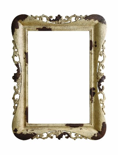 Distressed Molding (Creative Co-op Chateau Resin Picture Frame Molding, Distressed Cream, 35.5 by 47.25-Inch)