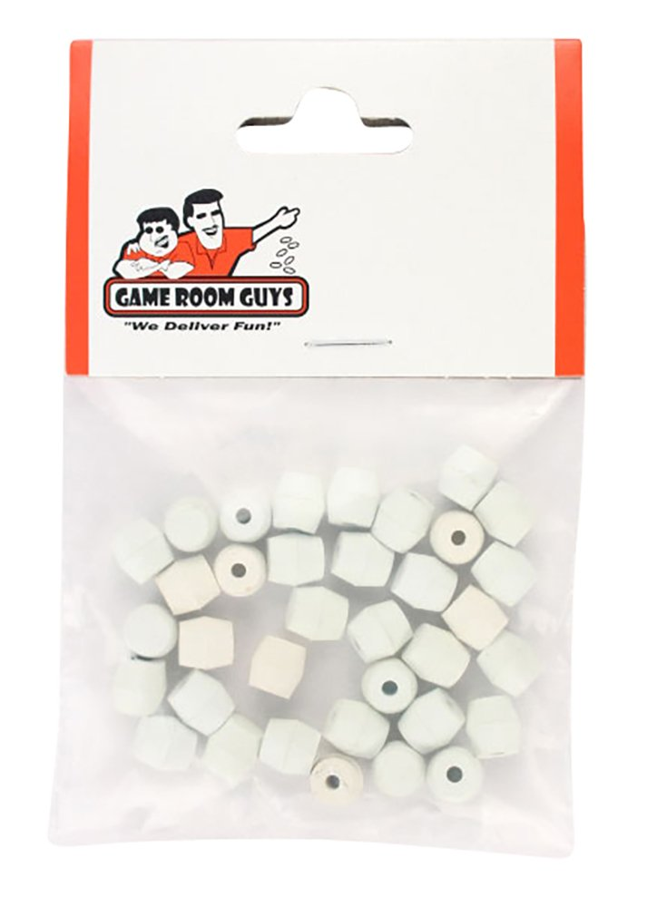 Game Room Guys Bag of 35 White Rubber Pinball Post Caps