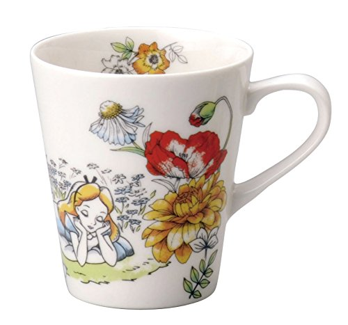 Disney Alice in Wonderland Porcelain Mug Maebata 29791(Japan import)
