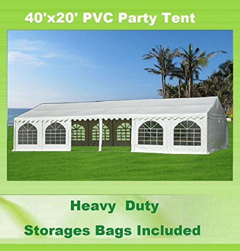 40'x20′ PVC Party Tent – Heavy Duty Wedding Canopy Gazebo Carport – with Storage Bags – By DELTA Canopies
