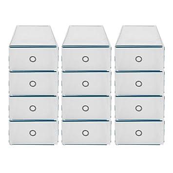 40 Set Schublade Schuhbox stapelbare Schuhkarton Schuhaufbewahrung shoe storage