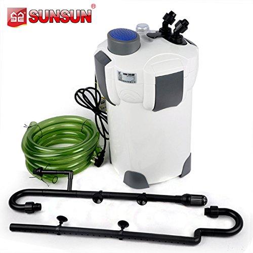 HW-302 - Filtro externo para acuario de agua dulce o salada, tropical, 18 W, 1000 l/h, máx 200 l: Amazon.es: Hogar
