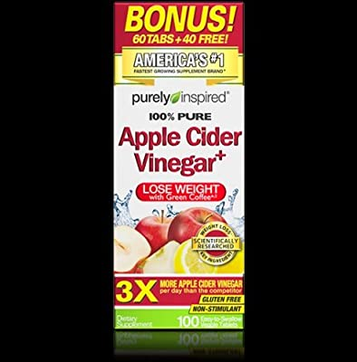 TRENDING Weight Loss Purely Inspired Apple Cider Vinegar 100 Tablets H