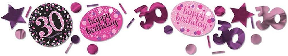amscan Rosa 30st Birthday Glitzerndes Konfetti