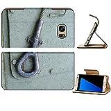 MSD Premium Samsung Galaxy S7 Edge Flip Pu Leather Wallet Case Metal wire welding tank war military green element old vintage rust transport mount IMAGE 23837427