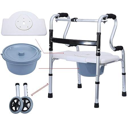 Andador plegable con ruedas, altura ajustable y patas ...