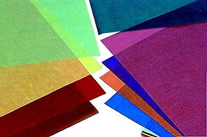 "Folia 82509 Transparent Paper, Large, 19 3/4"" X 27 1/2"" Size, Assorted Color by Folia"