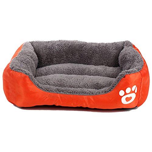 Zodae Pet Lounger Pet Bed Premium Bedding Super Soft Padding Anti-Skid Bottom Dogs & Cats [Lightweight, Self-Warming](S)-Orange