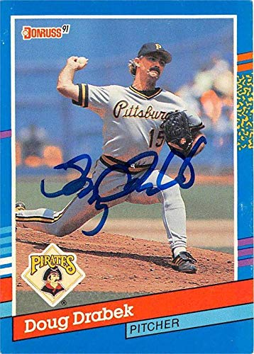 Autographed Card Donruss 1991 - Doug Drabek autographed baseball card (Pittsburgh Pirates) 1991 Donruss #269 - Baseball Slabbed Autographed Cards