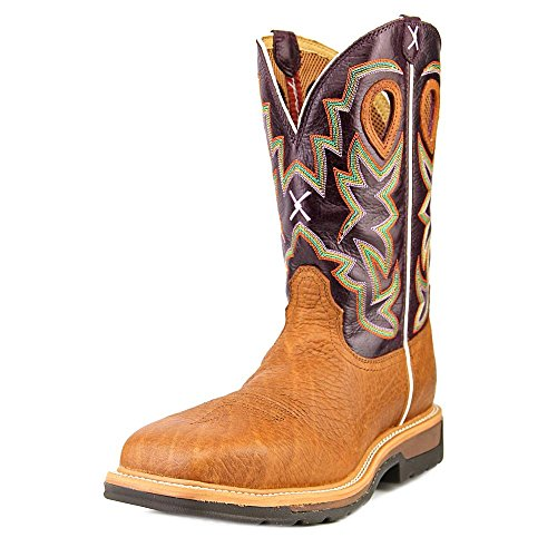 Image of the Twisted X Men's Lite Cowboy Workboot Grained Bomber/Purple NMT MLCC001 7.5 D