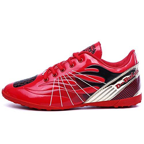 XING Lin Fußball Schuhe Jugend Training Schuhe Spring New Kinder Damen und Herren Broken Nägel Fußball Schuhe rot