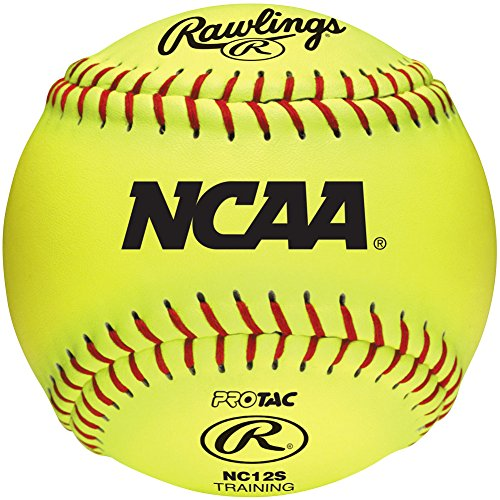 Rawlings Fastpitch Softball - Rawlings Raised Seam Recreational Training Softballs, NCAA League, Box of 12