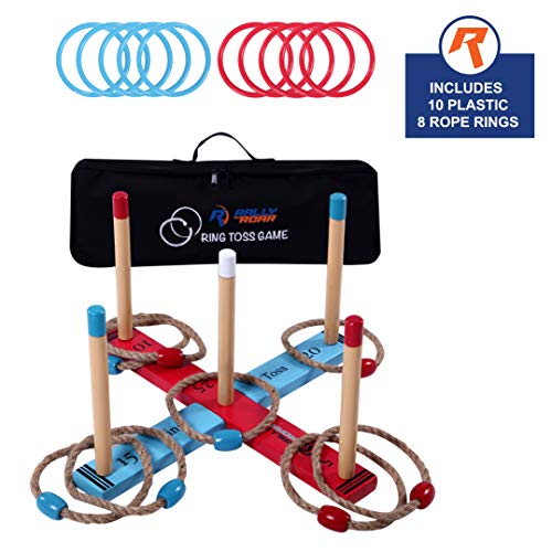 Outdoor Ring Toss Game by Rally & Roar for Adults and Kids