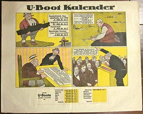 VINTAGE WWI U-BOOT KALENDAR - COMIC BOOK VINTAGE ARTWORK for sale  Delivered anywhere in USA